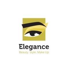 minimalistic beauty studio logo in black vector image