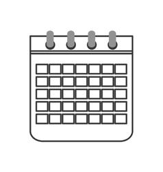 paper calendar icon vector image vector image