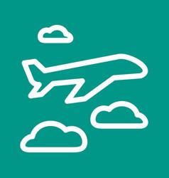 Plane flying vector