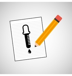 Research chemical dropper drawing icon vector