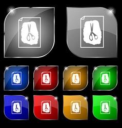 Rock scissors paper poster icon sign set of ten vector