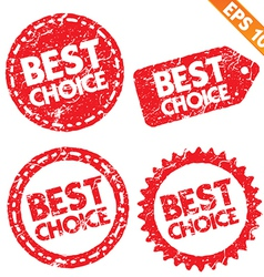 Stamp stitcker Best Choice tag collection - vector image