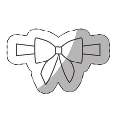 sticker silhouette satin center ribbon and bow vector image vector image