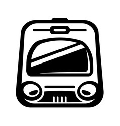 subway train light rail car icon vector image vector image