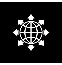 The global solution icon WWW and browser vector image vector image
