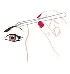 Curling eyebrows vector