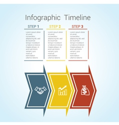timeline arrows 3 vector image