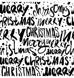 Seamless merry christmas pattern vector