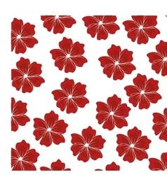 decorative flower pattern background vector image