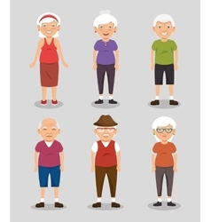 Grandparents with sport clothes vector
