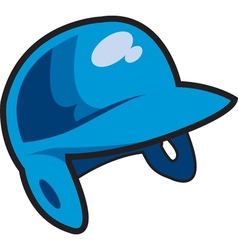 Batters helmet vector