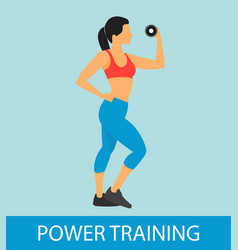 Fitness power training flat vector