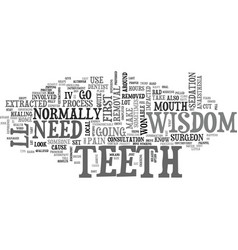 A close look at wisdom teeth text word cloud vector