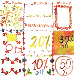 Sale design elements for spring vector