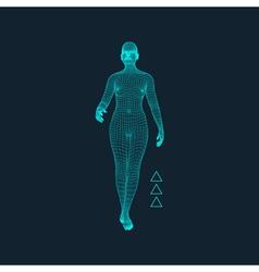 3d model of man polygonal design geometric vector