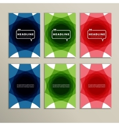 Set abstract design of different colors vector