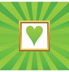 Hearts picture icon vector