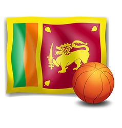 A ball with the flag of Sri Lanka vector image vector image