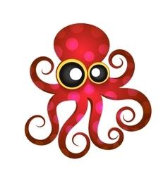 Beautiful tropical octopus vector image vector image