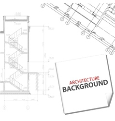 Black architectural project vector image vector image