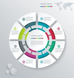 Business infographics in circle segments origami vector