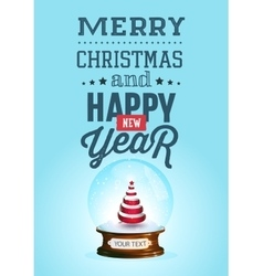 Christmas and new year lettering background vector image vector image