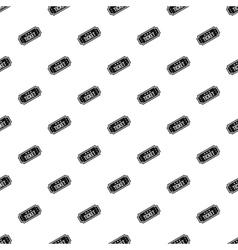 Cinema ticket pattern simple style vector