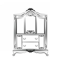 Classic royal ornamented glass closet vector image