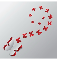 Cut out paper butterfly3 vector image vector image
