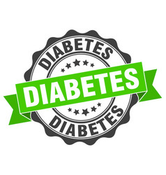 Diabetes stamp sign seal vector