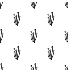 Enokitake icon in black style isolated on white vector