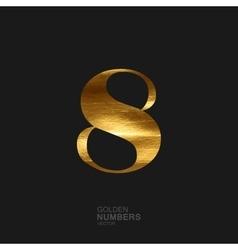 Golden number 8 vector image vector image