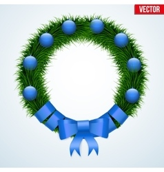 Green christmas wreath vector image vector image