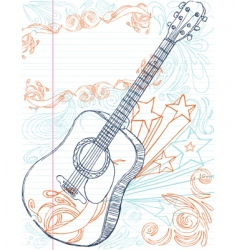 guitar with text area vector image vector image