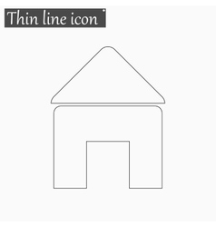 Home open door icon Style thin line vector image vector image