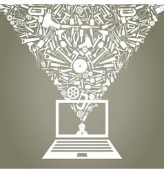 Mechanical Laptop vector image