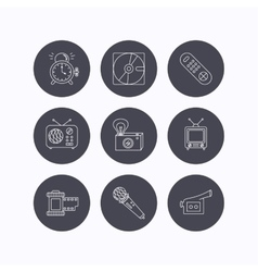 Microphone video camera and photo icons vector image