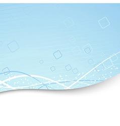 Modern folder template - blue geometry vector