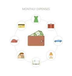 Monthly Expenses Template vector image vector image