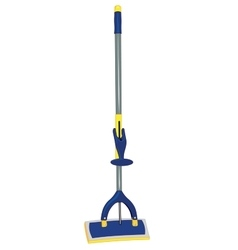 Mop for cleaning windows and floors vector