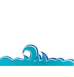 Ocean waves vector