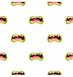 Open zombie mouth pattern seamless vector