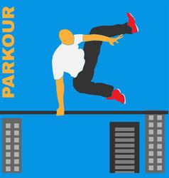 parkour figure flat elements vector image