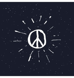Peace symbol pacific sign vector