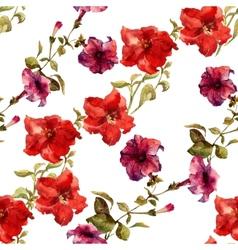 Petunia flower pattern vector