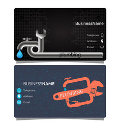 plumbing business card vector image
