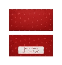 Realistic christmas letter to santa claus vector