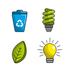 reduce reuse and recycle icon vector image vector image