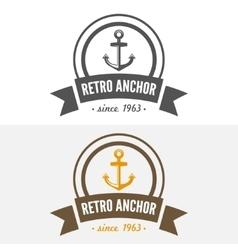 Retro vintage insignia or logotype design vector