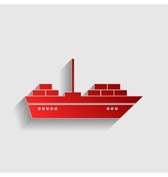 Ship sign vector image vector image